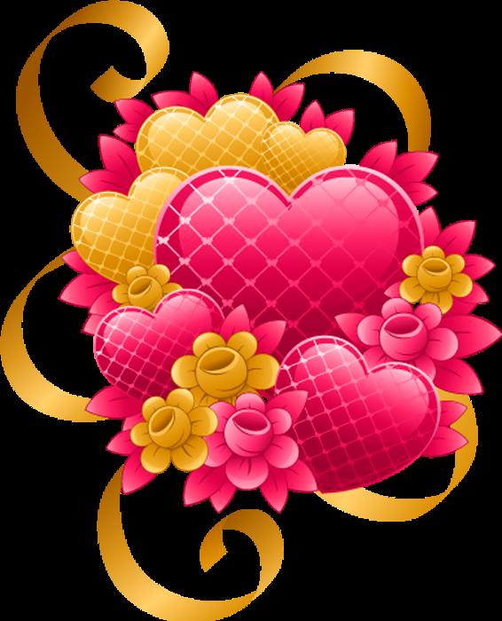 Клипарт. Красивые сердечки в png (16) (566x700, 431Kb)