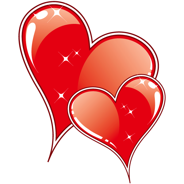 Клипарт. Красивые сердечки в png (18) (600x600, 64Kb)