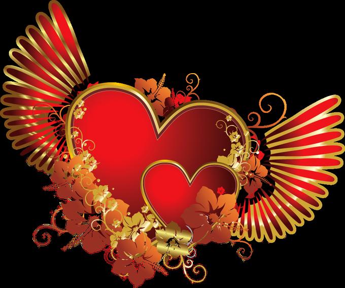 Клипарт. Красивые сердечки в png (20) (680x567, 401Kb)