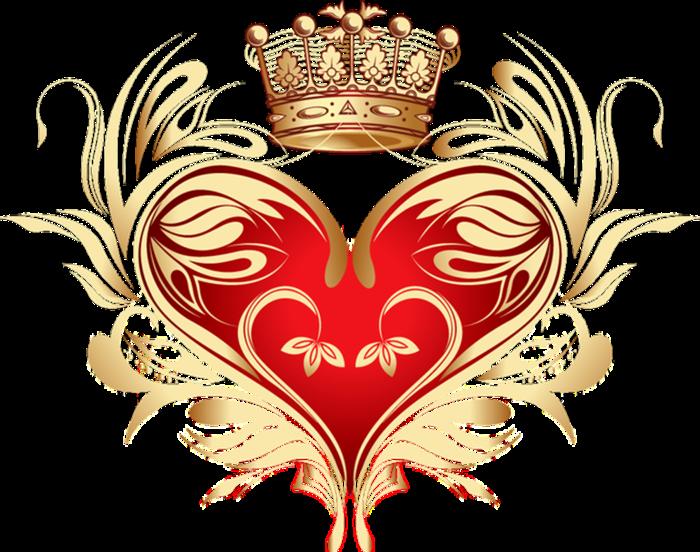 Клипарт. Красивые сердечки в png (22) (700x552, 463Kb)