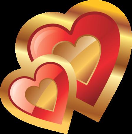 Клипарт. Красивые сердечки в png (23) (448x454, 149Kb)