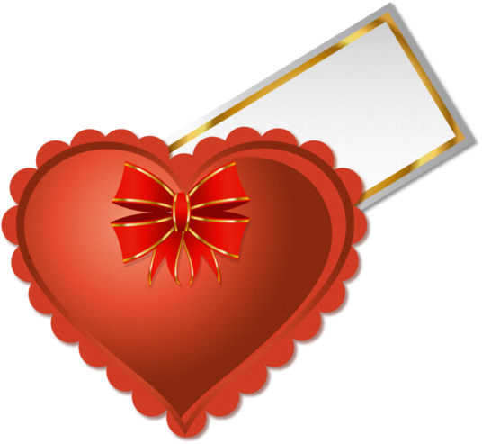 Клипарт. Красивые сердечки в png (25) (536x493, 237Kb)