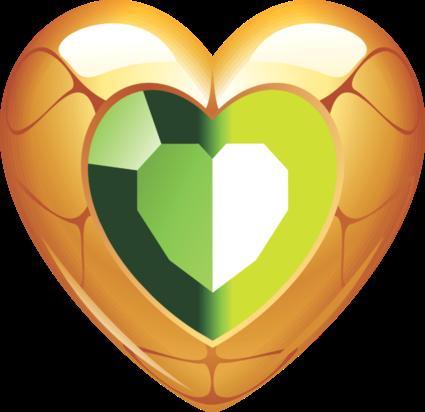 Клипарт. Красивые сердечки в png (27) (425x412, 125Kb)