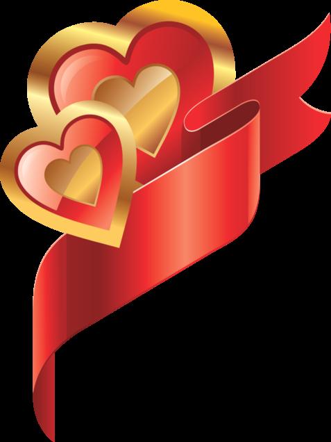 Клипарт. Красивые сердечки в png (37) (477x636, 126Kb)