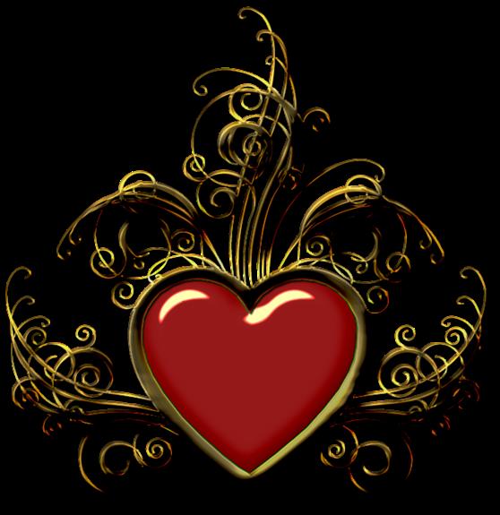 Клипарт. Красивые сердечки в png (41) (558x575, 287Kb)