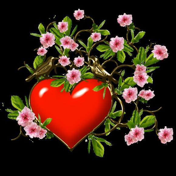 Клипарт. Красивые сердечки в png (43) (580x580, 371Kb)