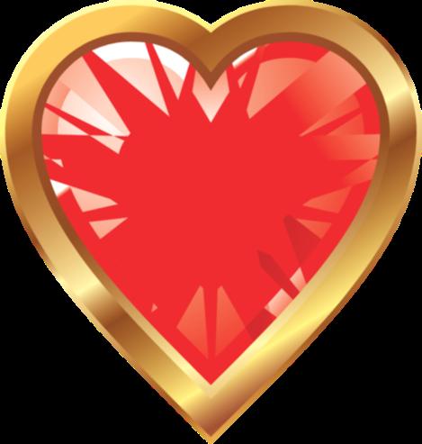 Клипарт. Красивые сердечки в png (47) (469x493, 159Kb)