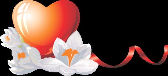 Клипарт. Красивые сердечки в png (49) (551x252, 103Kb)