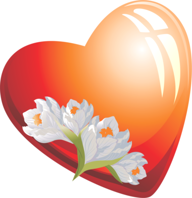 Клипарт. Красивые сердечки в png (51) (388x400, 116Kb)