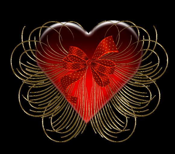 Клипарт. Красивые сердечки в png (53) (580x509, 308Kb)