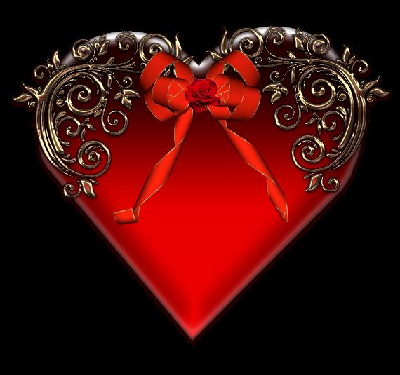 Клипарт. Красивые сердечки в png (55) (570x535, 243Kb)
