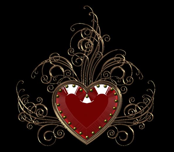 Клипарт. Красивые сердечки в png (58) (595x521, 278Kb)