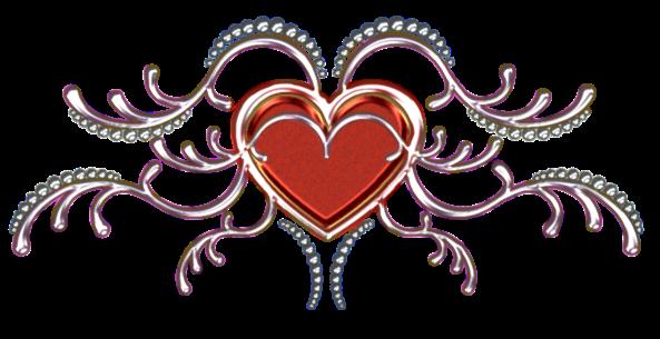 Клипарт. Красивые сердечки в png (62) (593x305, 193Kb)