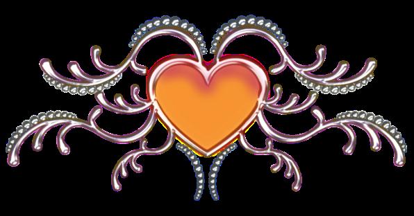 Клипарт. Красивые сердечки в png (68) (596x312, 182Kb)