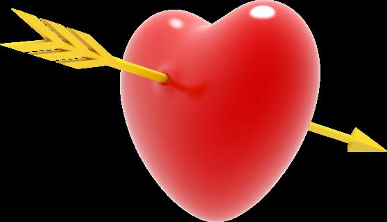 Клипарт. Красивые сердечки в png (74) (558x321, 115Kb)