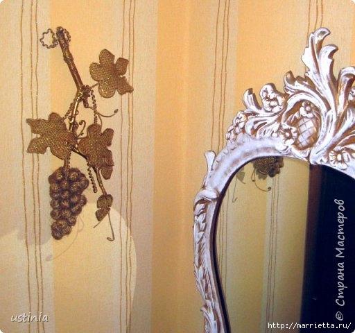 Золотой виноград из джута и мешковины (14) (512x480, 143Kb)
