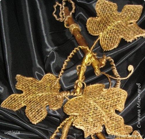 Золотой виноград из джута и мешковины (16) (501x480, 200Kb)