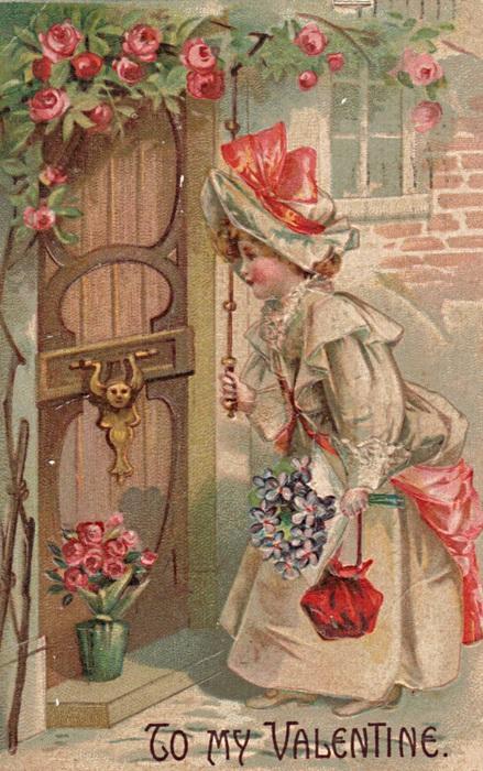 valentine victorian girl postcard (439x700, 157Kb)