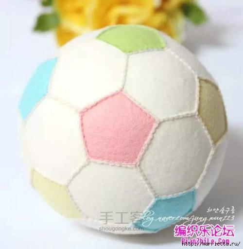 Как сшить футбольный мяч из фетра (13) (500x512, 89Kb)