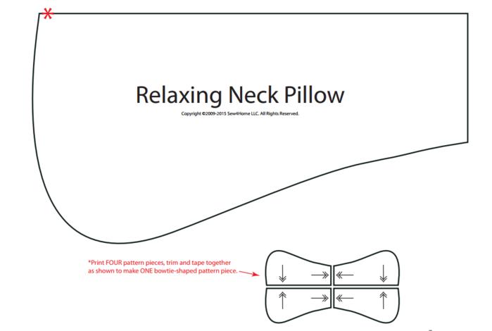 Подушка ортопедическая своими руками выкройки