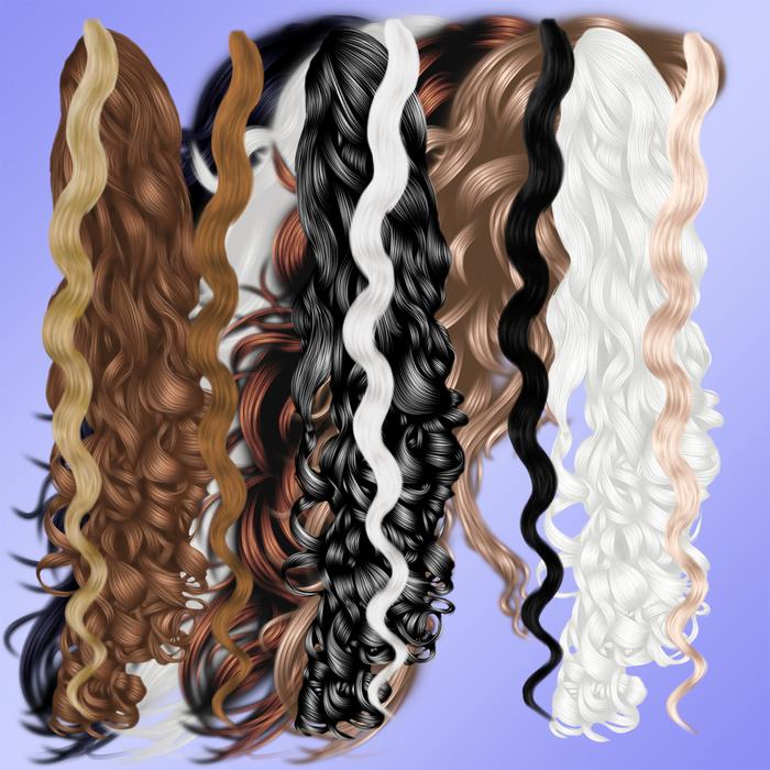 Волнистые локоны волос (700x700, 400Kb)