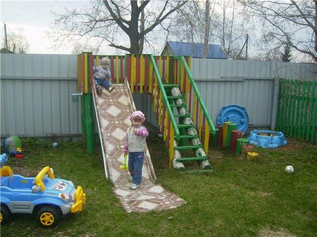 Как своими руками сделать детскую площадку на даче фото