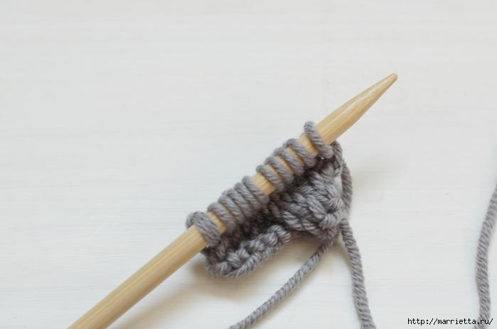 Браслет косичкой спицами. Фото мастер-класс (10) (700x464, 119Kb)