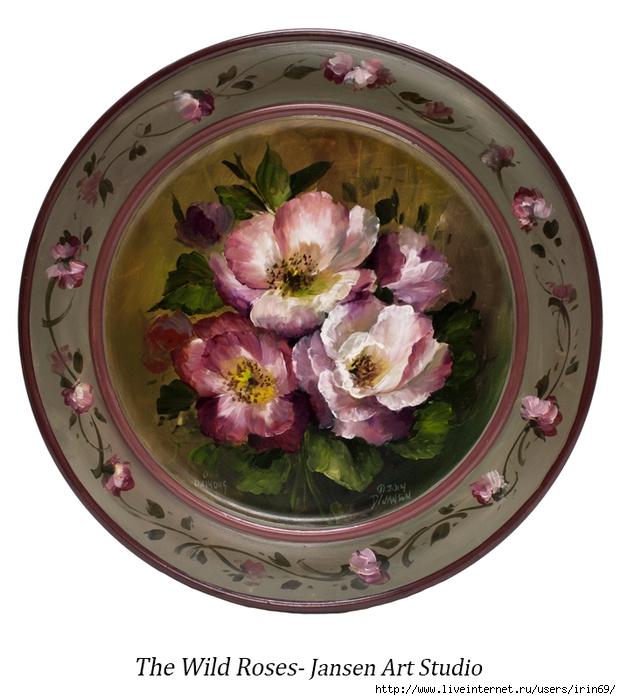 40 Wild Roses (621x700, 264Kb)
