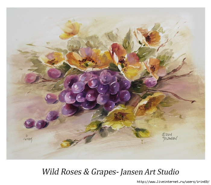46 Wild Roses and Grapes (700x615, 283Kb)