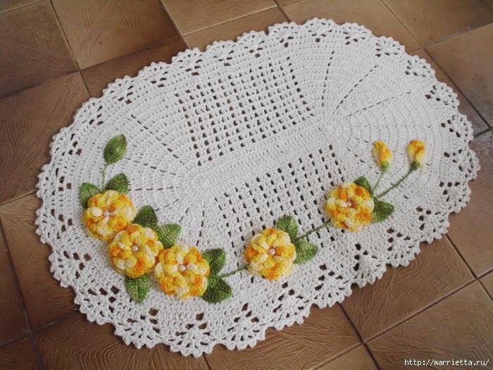 Вязание ковриков для ванной 996