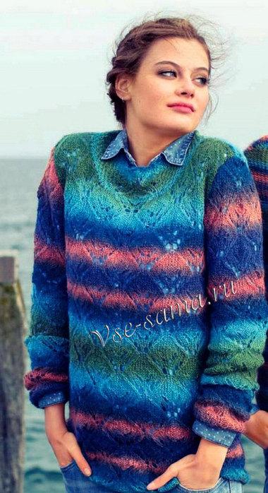Raznotcvetnyi-azhurnyi-pulover-ris (380x700, 93Kb)