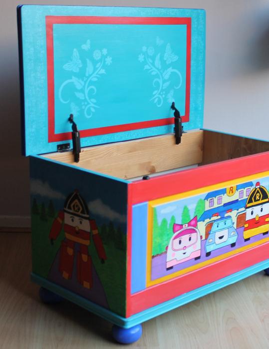 Сделать ящик для игрушек своими рукам