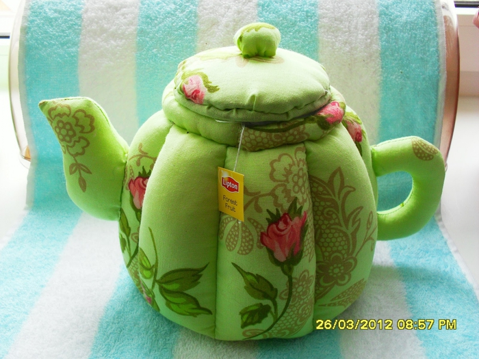Как сшить грелку на чайник в виде чайника