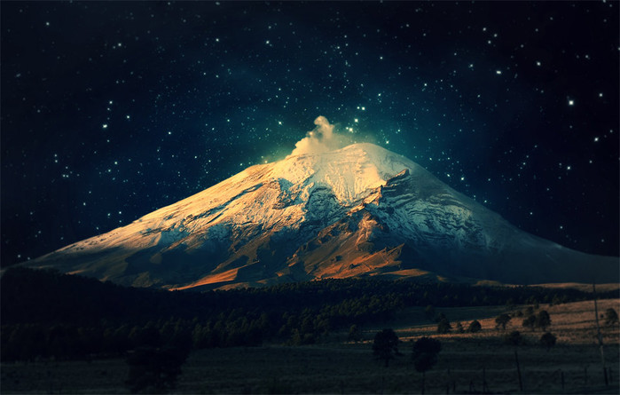 40starry-sky-over-snowy-mountain (700x445, 76Kb)