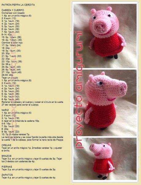 Свинка пеппа из носка