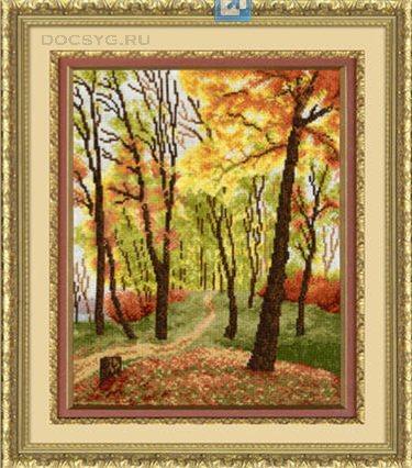 схема вышивки Осенний парк (375x426, 190Kb)
