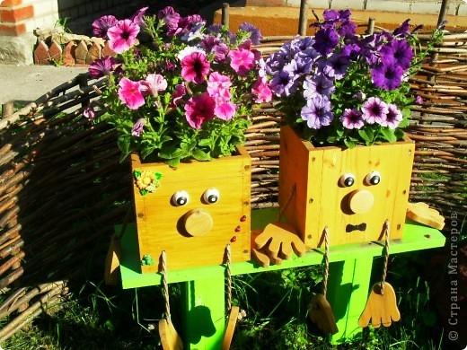 Ящики своими руками в саду