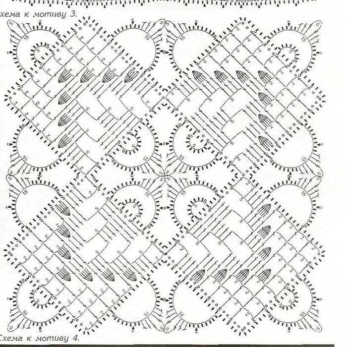 Вязание крючком квадратные мотивы схемы