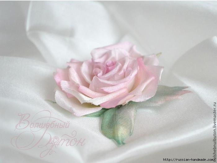 роза из шелка. мастер-класс (9) (700x525, 181Kb)