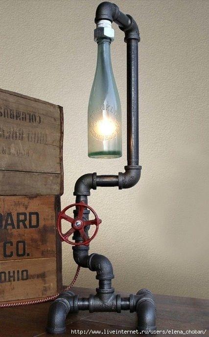 Лампы из бутылок своими руками