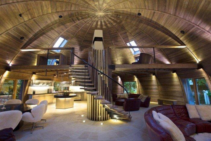 деревянный дом в форме купола 1 (700x466, 296Kb)