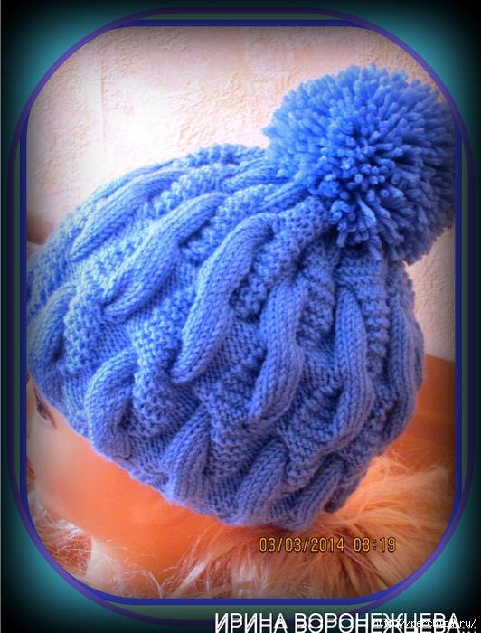 Объемное вязание для шапки