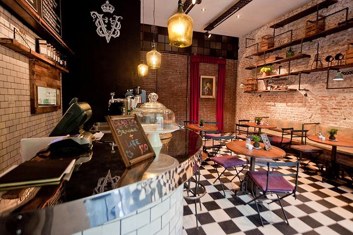 красивый интерьер кафе с промышленном стиле 3 (700x466, 493Kb)