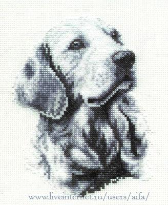 Вышивка крестом, схемы Собака