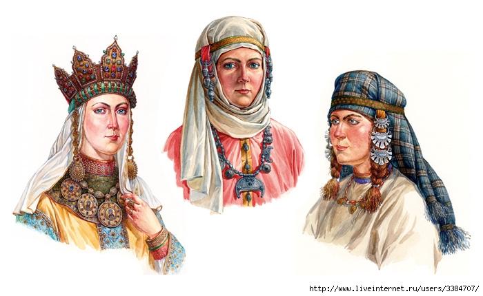 1Древнерусский женский ювелирный головной убор XI - XIII вв. (700x430, 188Kb)