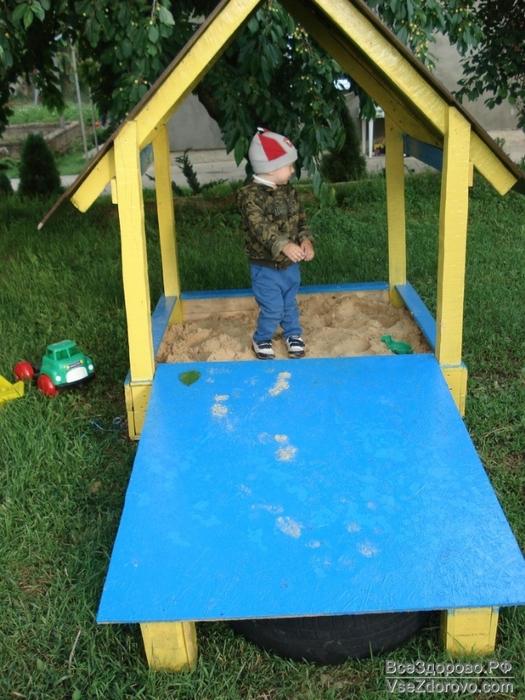 Песочницы и детские площадки своими руками фото