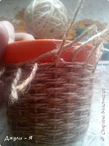Плетение корзинки из шпагата. Мастер-класс (13) (360x480, 134Kb)