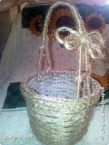 Плетение корзинки из шпагата. Мастер-класс (21) (360x480, 171Kb)