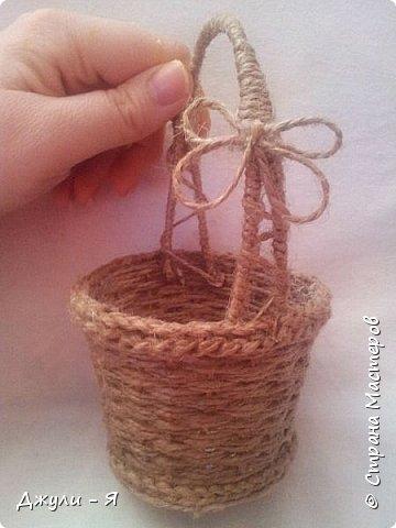 Плетение корзинки из шпагата. Мастер-класс (25) (360x480, 117Kb)
