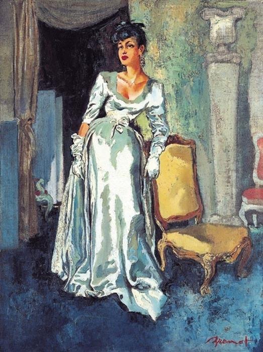 La dame bleu Balenciaga (523x700, 419Kb)